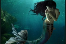 Mermaids....❤ Enchanting Mysteries of the Sea ❤ / I've been fascinated by mermaids since I was a child. Always happier in water than on land, I liked to imagine that I would discover this was my true identity....Enchanting creatures...