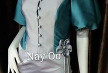 Asian beauty  Myanmar Traditional dress