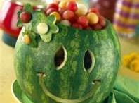 watermelon carving ideas / by Sue Belcher