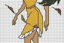 Haft krzyżykowy - Pocahontas