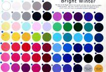 Barvy - Zářivá zima (Bright winter)