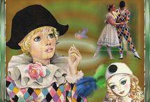 Pierrot, Colombine, Arlequin / by Fleurdemarie