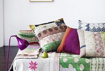 Cushions and quilts