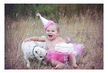 First birthday / Birthday cake, hat , tutu, puppy