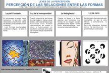 EPVA 3_PERCEPCIÓN VISUAL / Infografías sobre Percepción visual, indicadores de espacio y distancia. Gestalt.