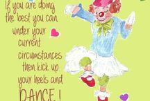 clown collage series