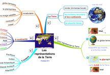 Cartes mentales géographie / Cartes mentales créés par Fantadys (http://fantadys.wordpress.com)