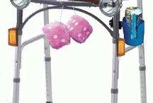 Pimp my walker! / Walkers, walker bags, disability ideas