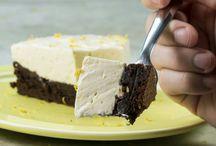 torta gelada de brownie e limão