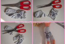 Poppen kleertjes van sokken
