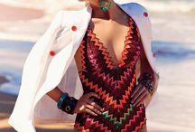 Beach editorial / Beach, swimming suits, scarfs, accessories