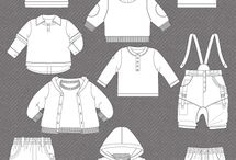 Flats / Technical fashion vector drawings