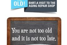 Out with the old - Aging / Information about aging, what happens, when it happens and how to avoid specific conditions.