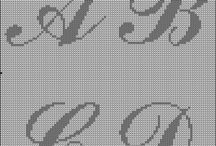 Cross stitch - letters