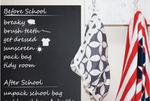 Chalk board ideas / Chalk board is fun and looks really good in a home!  We're always looking for great ideas!