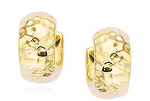 Yellow Gold Earrings / A jewelry collection of 14kt yellow gold earrings. #MadeInAmerica