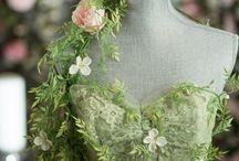 Spring Faerie Dress / The vintage dress we turned into a Spring Faerie Dress.