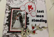 Scrapbooking  - Bon Jovi Themed Wedding Album / My wedding album with all pages relevant to Bon Jovi song titles or lyrics.