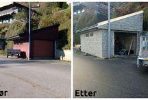 Renovering og større prosjekter / Større renoveringsprosjekter ute og inne - utført via Mittanbud.no.