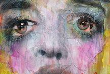 Takahiro Kimura / Técnica -  Collage on paper Ver más en http://broken1000faces.com/