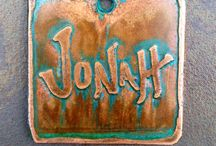 Custom Dog Tags and Nameplates / Handmade custom brass, copper and silver tags and plates for our 4-legged friends