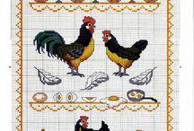 Kippen borduren