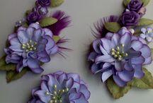 papírové květiny..