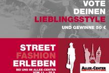 VOTE DEINEN LIEBLINGSSTYLE! / Gefällt Dir einer der Styles? Dann vote jetzt – und mit etwas Glück kannst Du einen 50 € Center-Gutschein gewinnen! facebook.com/AlleeCenter