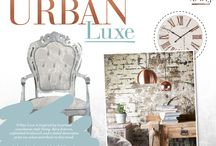 Urban Luxe / Urban Luxe is inspired by luxurious warehouse-style living. Bare fixtures, unfinished brickwork and a faded decorative print are what contribute to this trend.