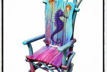 beautiful drftwood chairs