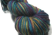 fibre - painted wool