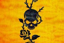 """Skull / inlay sticker """"Skull"""" guitar/ukulele decals"""