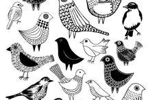 стилизация. птицы