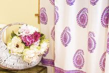 Purple Curtains / Hand Block Printed Purple Curtains from India / by Attiser