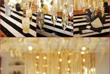 My blk n gold party ideas