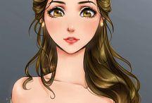 ☆Princesas Disney estilo Anime☆