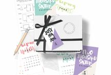 Calendar Design / Calendar 2016, 2016 Desk Calendar, Office Decor