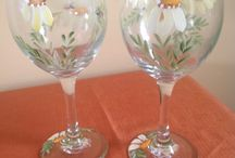 Hand painted glass / Glass