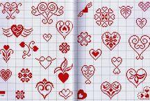 borduren hearts