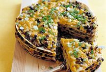 Tortilla and Black Beans Pie