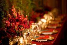 Festliche Tischdekorationen
