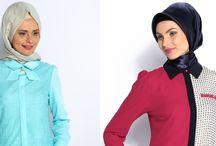 Tesettür Gömlek ve Bluz Modelleri / Tesettür Gömlek ve Bluz Modelleri