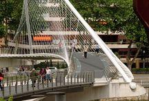 curved stayed bridge