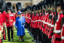 WELSH GUARDS RECEIVE NEW COLOURS / The Queen, Colonel-in-Chief, accompanied by The Duke of Edinburgh, and The Prince of Wales, accompanied by The Duchess of Cornwall, presented New Colours to the 1st Battalion Welsh Guards at Windsor Castle today, before joining the regiment and their guests at a Regimental Garden Party in the castle grounds.  This is the eighth set of Colours that have been presented to the 1st Battalion Welsh Guards in their 100 year history.