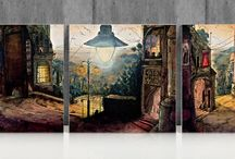 Ceramic tiles / Ceramic tiles  - original home decorations based on art drawings