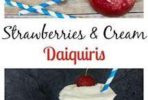 strawberry and cream daiquiris