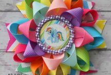 Hair bows for Baby Girl and her Zebra Umi / Hair bows, diy bows and all kinds of bows for baby fashionista girls