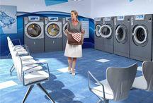 Layout lavanderie self service