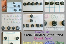 Bottle Tops and Building Blocks / If you have a collection of bottle tops, these ideas will help you come up with creative ways to teach to the curriculum. Use those old building blocks from home and create a fun and engaging activity.