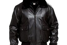 Flag jacket cuir homme